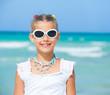 Cute teens girl in sunglasses