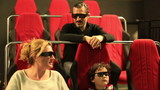 family watching 5D movie