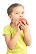 Young Girl Eating Apple