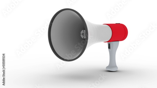 Megaphone making a loud important announcement