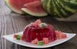 Portion of Watermelon Jello