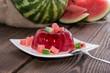 Fresh made Watermelon Jello