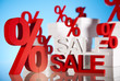 Sale background with percent