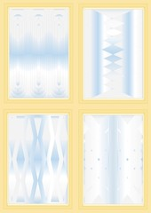 Types of corrugated glass.