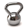 Silver dumbbell weights