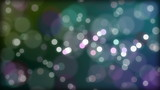 Bokeh looping background with organic flow in multicolors
