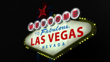Las Vegas Welcome sign from the side looping