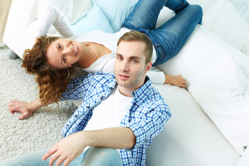 Couple above view