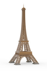 Eiffel Tower Isolated on White Background
