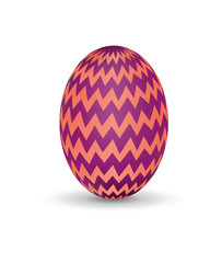 Vector Illustration of Colorful Easter Purple Egg