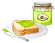 A sandwich with a jam
