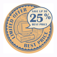 Stamp with the text Best Price, Limited Offer written inside