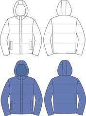 Vector illustration of men's jacket