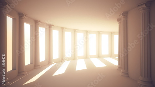 Endless Corridor with Columns