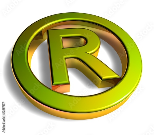 3D Goldzeichen - Trademark