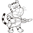 Cartoon Tiger Playing an Electric Guitar