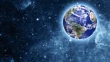 blue planet in beautiful space - Fine Art prints