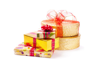 gifts isolated on white