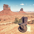 boots and hat at Monument Valley