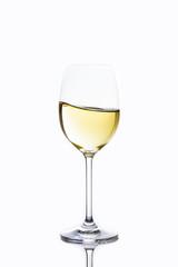 delicious wine waving in glass