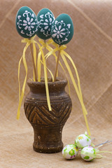 Easter decorated eggs