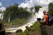 Business man at Iguazu Fall