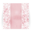Floral distressed invitation card