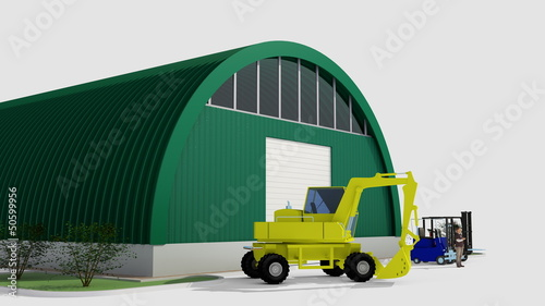Big green hangar