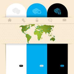 Label design website template