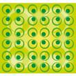 Retro muster grün