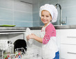 little girl on the kitchen