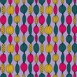 Beautiful seamless pattern with bright garland