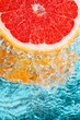 Fototapete Wasser - Blau - Obst