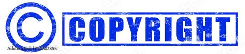 Stempel Copyright blau