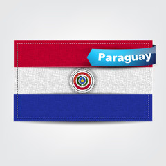 Fabric texture of the flag of Paraguay