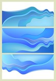 Flowing blue wave backgrounds