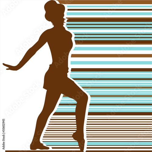 silhouett dance color retro stripes 02
