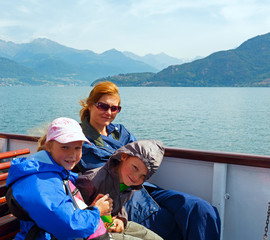 Lake Como (Italy) and family on ship