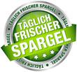 """Button Banner """"Täglich frischer Spargel"""" grün/silber"""