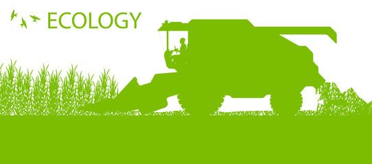 Agricultural combine harvester seasonal farming landscape ecolog