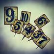 vintage tin plate numbers