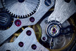 Macro Mechanical Gear Background / Clockwork