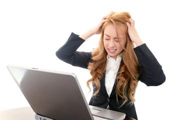 ストレスの溜まったオフィスレディー