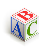 brick abc vector illustration isolated on white background