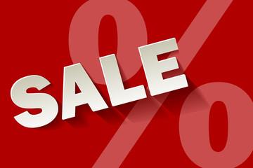 Sale rot Prozent