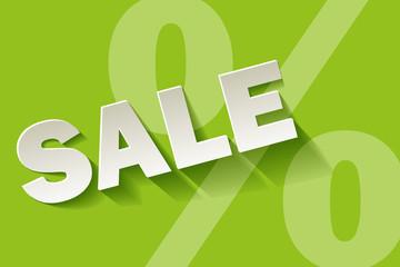 Sale grün Limette Prozent
