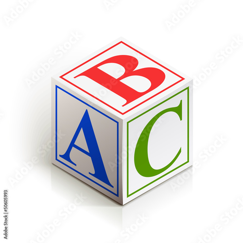 brick abc vector illustration isolated on white background