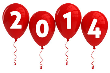 Year 2014 Red Balloons