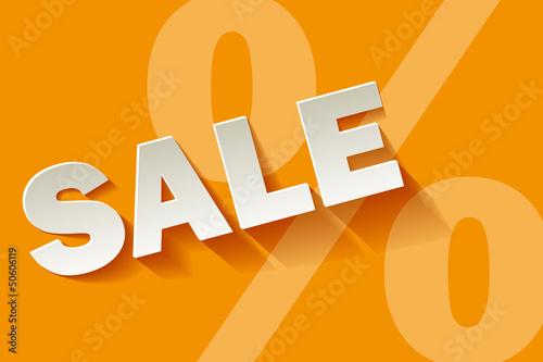 Sale gelb orange Prozent