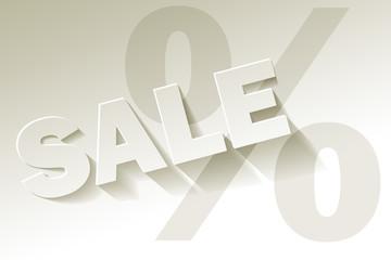 Sale weiss Papier Prozent